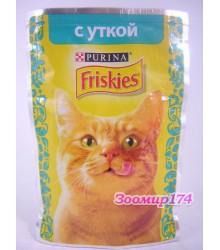 Фрискис корм для кошек с Уткой в подливе 85гр