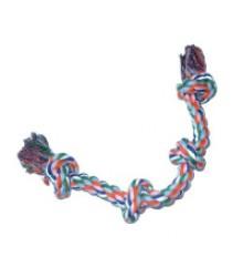 Игрушка Веревка Цветная с двумя узлами 360663