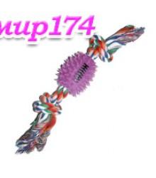 Игрушка Мяч шипованный на веревке 360657