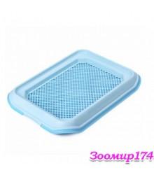 Туалет для собак с решеткой 48.5х37х5см D1-MDM (голубой)