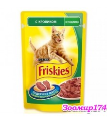 Фрискис корм для кошек с Кроликом в подливе 100гр