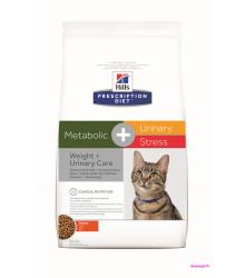 Hill's Prescription Diet Metabolic + Urinary Stress Felineсухой корм для кошек с курицей 1.5 кг