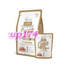 Brit Care Cat Cocco I'am Gourmand  с/корм беззерновой  для привередливых кошек и кошек с чувствительным пищеварением (утка/лосось)