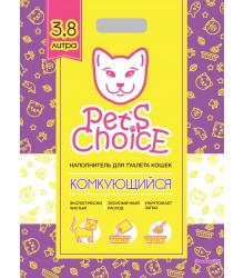 Pets Choice наполнитель комкующийся ТОФУ для кошачьих туалетов  3,8 литра