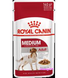 Royal Canin (Роял канин) Medium Adult Полнорационный корм для взрослых собак средних размеров (весом от 10 до 25 кг) в возрасте от 12 месяцев до 10 лет (140гр.)