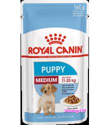 Royal Canin (Роял канин) Medium Puppy Полнорационный корм для щенков собак средних размеров в возрасте от 2 месяцев до 12 месяцев (140гр.)