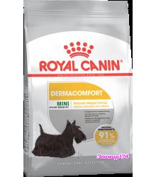Royal Canin (Роял канин) Mini Dermacomfort  Корм для собак с раздраженной и зудящей кожей