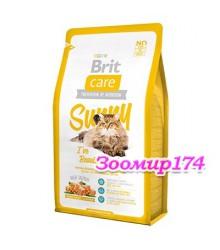 Brit Care Cat Sunny Beautiful Hair Salmon & Rice Брит с/корм для длинношерстных кошек (Лосось/Рис)
