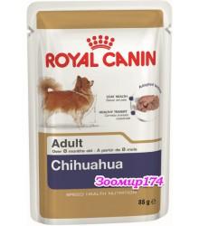 Royal Canin (Роял канин) Chihuahua Adult Влажный корм для собак породы Чихуахуа в возрасте с 8 месяцев (паштет 85гр)