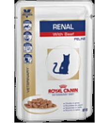 Royal Canin (Роял Канин)  Renal (говядина, пауч) Диета для кошек при хронической почечной недостаточности