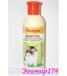 Шампунь Пчелодар гигиенический с маточным молочком для длинношерстных кошек, 250 мл