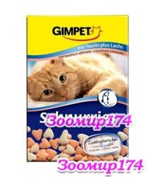 Gimpet Сердечки, витамины для кошек с лососем 10таб.