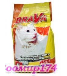 БРАВА наполнитель комкующийся для длинношерстных кошек (5л)
