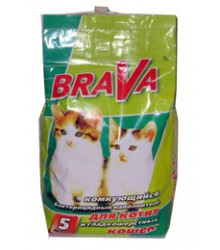 БРАВА наполнитель комкующийся для гладкошерстных кошек (5л)