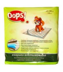 Коврик гигиенический OOPS для кошек и собак 35х48см 18шт 320036